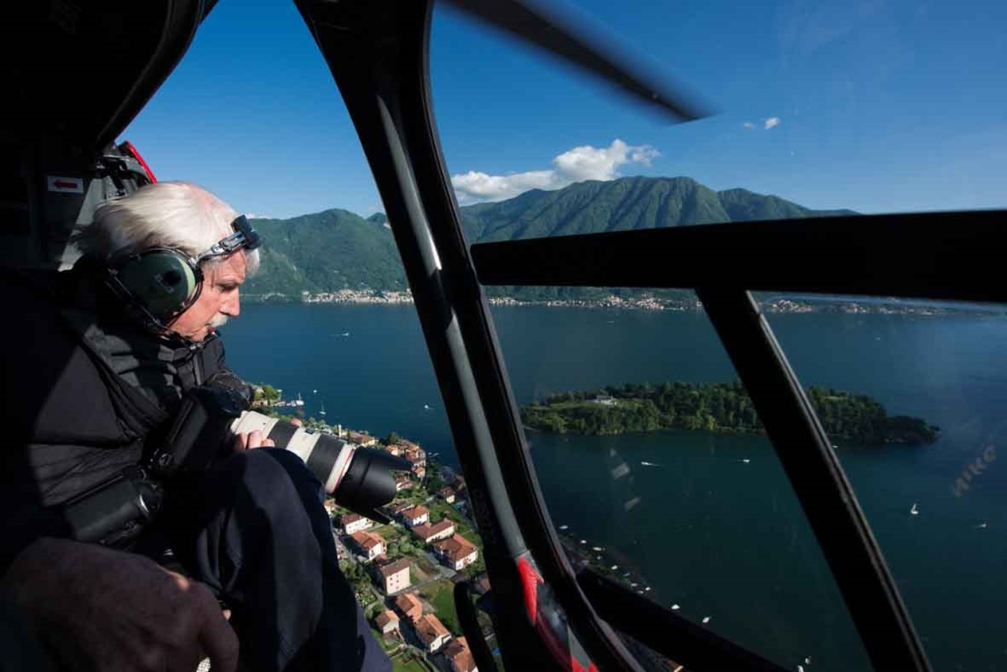 Aerial shooting on Lario